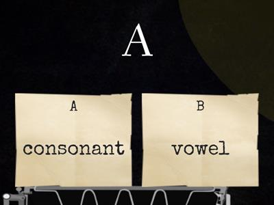 Consonant or Vowel Quiz (With Qu)