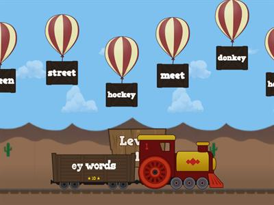 Vowel Teams (ee, ea, ey) Balloon Pop