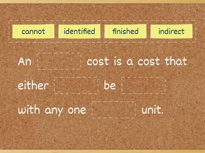 Indirect cost -- Management Accounting - Elements of Costing - AAT 2 & 3