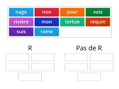 Letter R in word (words only) - French