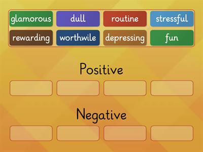 Positive and Negative Adjectives