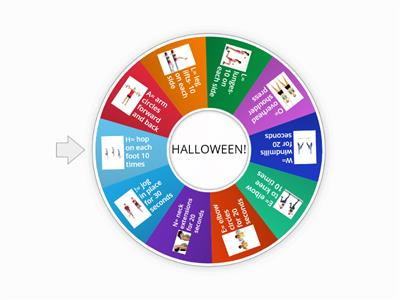 Halloween Workout wheel