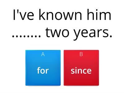 PRESENT PERFECT -  how long + SINCE / FOR