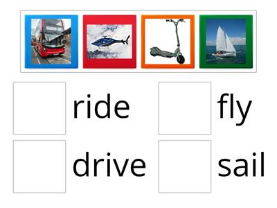 Match the verbs with the pictures