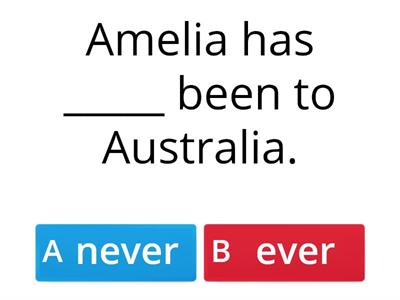 A2 - Present Perfect - Already, Yet, Never, Ever