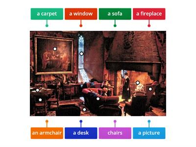 Rooms&Furniture with Harry Potter (Livingroom)