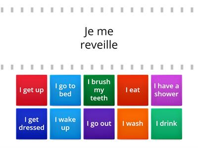 French daily routine year 9