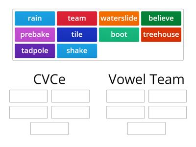 CVCe & Vowel Team Sort
