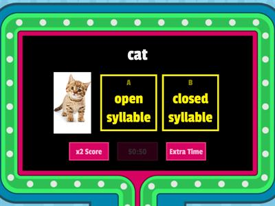 Closed and Closed Syllables