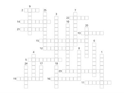 All Clear 8. Crossword 1-3