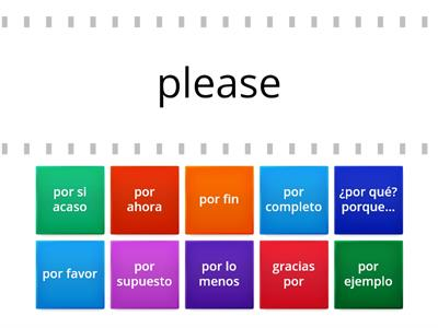 Translate Expressions with Por