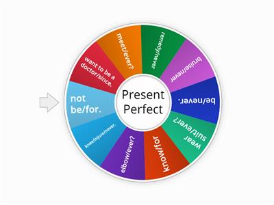 Make centences using the  Present Perfect