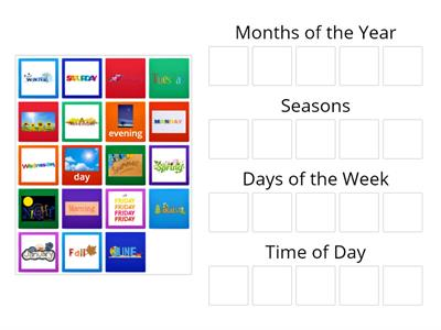 Months, Days, Seasons Sort