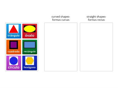2D Flat shapes- straight and curved shapes- Figuras rectas y curvas