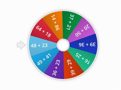 2  Digit Addition (WITH regrouping) Spin the Wheel