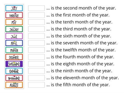 Months and ordinal numbers