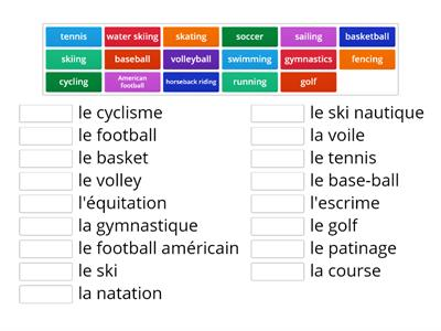 French Sports - match up