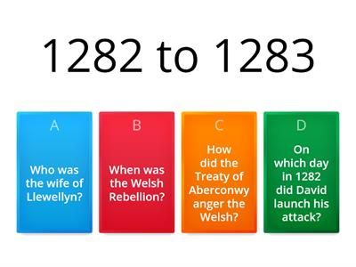 The Welsh Rebellion - 1282 to 1283