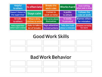 Good Work Skills or Bad Work Behavior