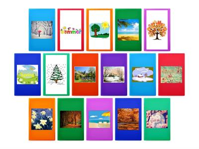 seasons flip game with pictures