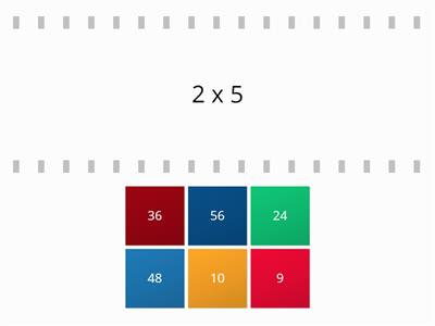 Flip tiles Maths times tables test