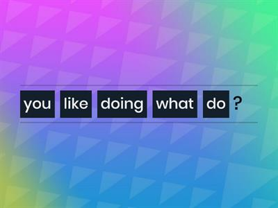 what do you like doing?