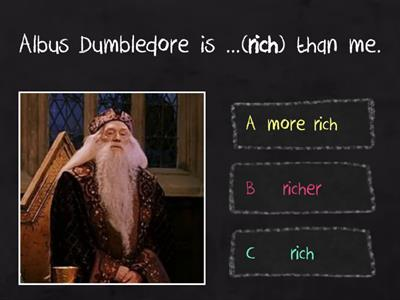 Harry Potter Comparative Adjectives