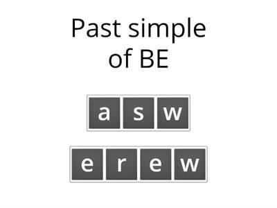 Anagrams: Irregular Verbs (1-25): Past Simple