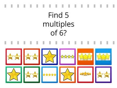Factors and multiples - find the stars