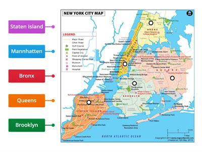 New York City (NYC) Map Diagram