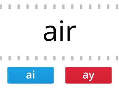 ai and ay words sort conveyor