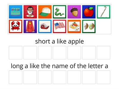 Vowel sound sort - short and long a 1