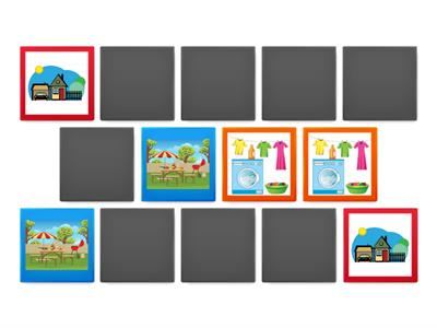 Memory Game - Dinning Room furniture and objects - Day by Day