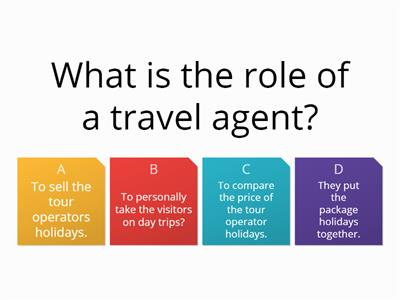 Travel and tourism - Booking a package holiday