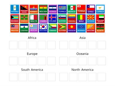 FLAGS TO CONTINENTS