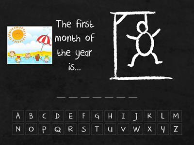 Copy of MONTHS Hangman