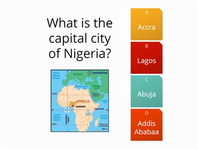 African capital cities quiz