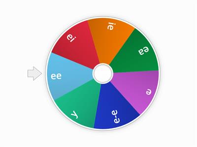 Spelling wheel `ee` spellings