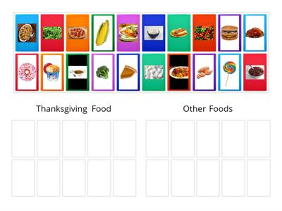 Thanksgiving Vs. Other Foods