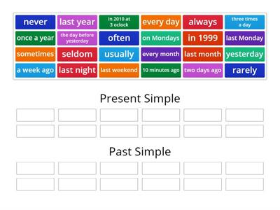present simple vs. past simple
