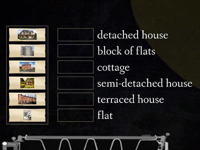 Types of houses  Picture - word