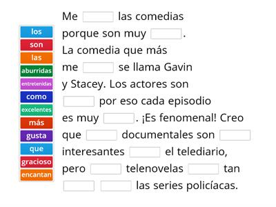 TV programmes Spanish