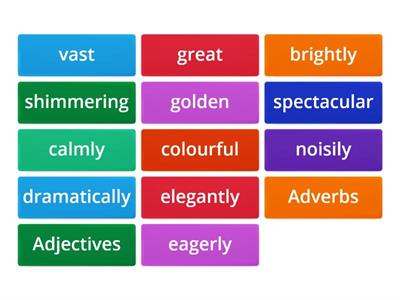 Adverb/adjective sort