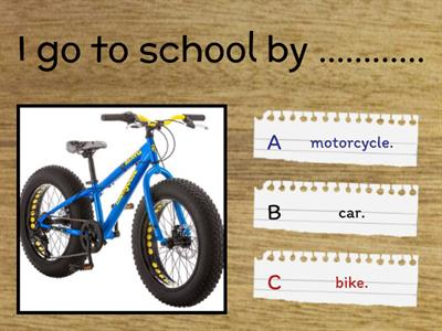 Means of transport quiz