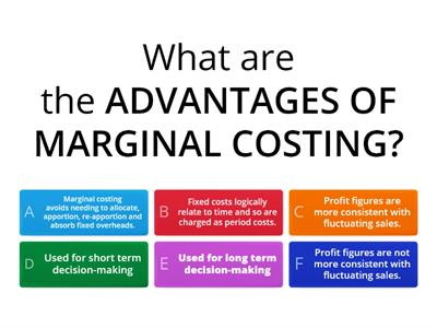 Marginal Costing vs. Absorption Costing - Management Accounting - Elements of Costing - AAT 2 & 3