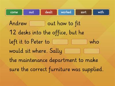 B2 phrasal verbs - in the office, part 4