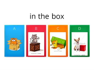 Table time. Prepositions of place