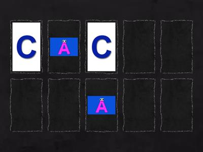 Capital letter A-E Memory Games
