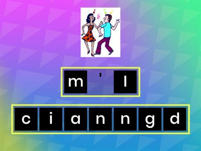 Unit 3 - I'm dancing Anagram