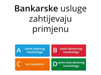Marketing usluga - ponavljanje